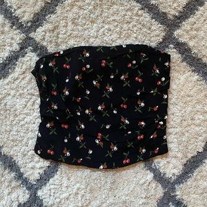Cherry Print Tube Top